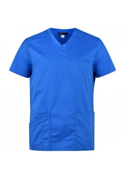 Мъжка медицинска туника TYLER BLUE - вталена